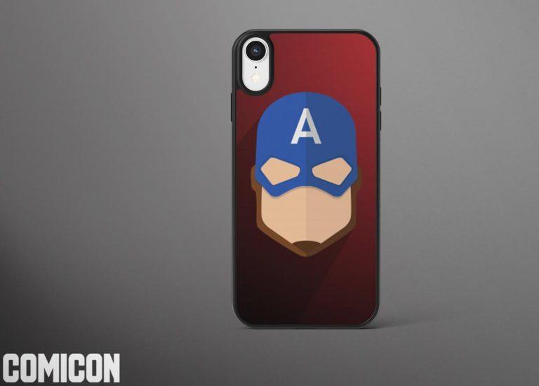 قاب موبایل طرح کاپیتان آمریکا