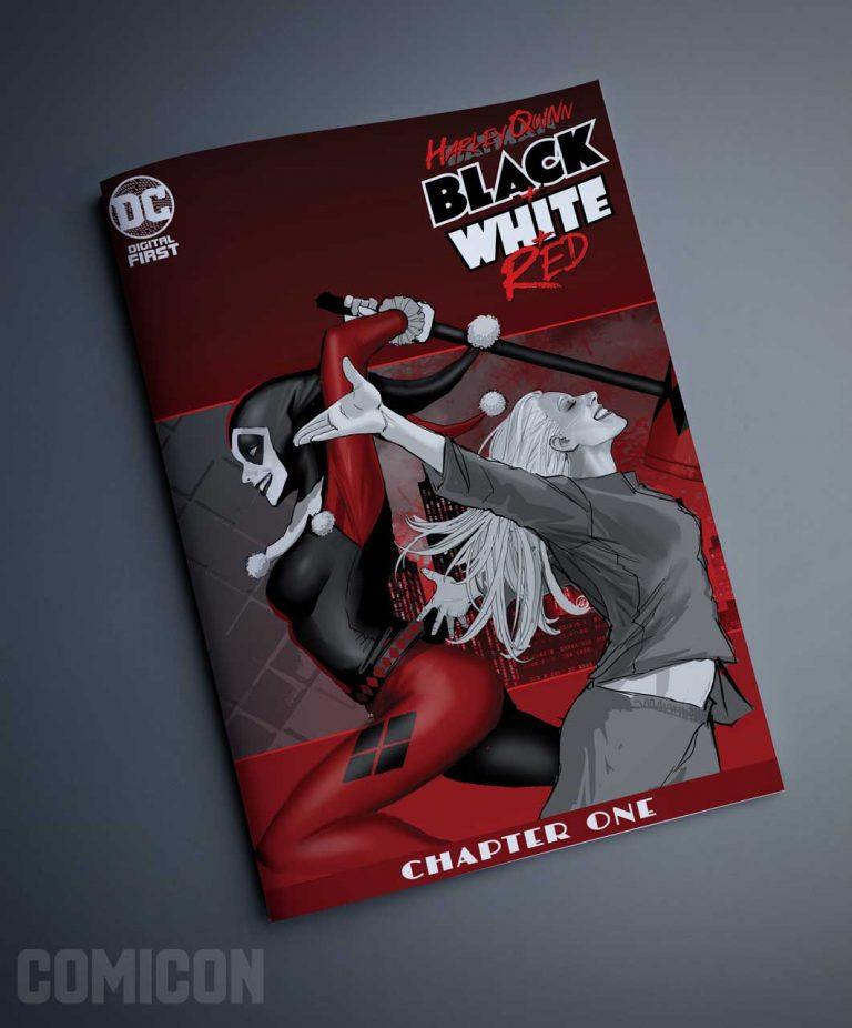 کمیک Harley Quinn Black + White + Red