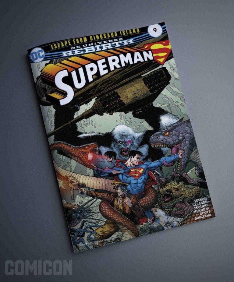 کمیک SuperMan Escape From Dinosaur Island